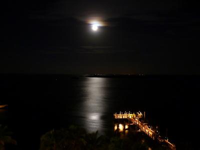 Mond über Fort Lauderdale