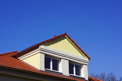 Wohnhaus-Neubau mit Dachgaube