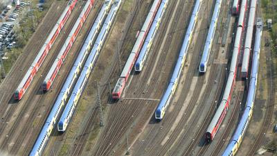 Züge Luftaufnahme