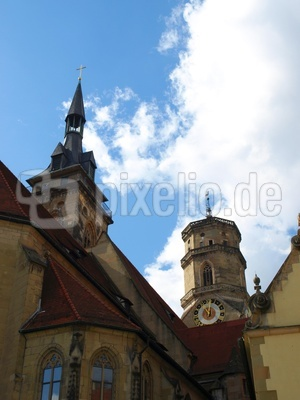 Stiftskirche Stuttgart - Perspektive 1