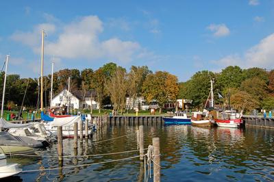 Hafen von Kloster auf Hiddensee