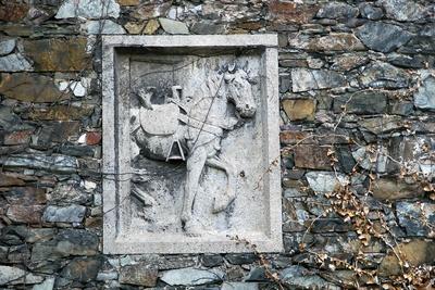 mittelalterliches Pferderelieff