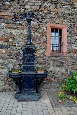 Eisernes Acessoir auf Burg Reichenstein