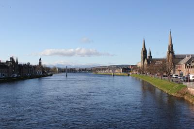 Blick über Inverness, Schottland