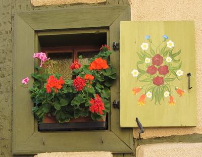 geschmücktes Fensterchen