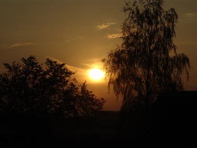 Sonnenuntergang am Fuße vom Kottmar