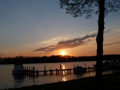 Sonnenuntergang am Mirowsee