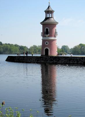 Moritzburg, Leuchturm am Großteich