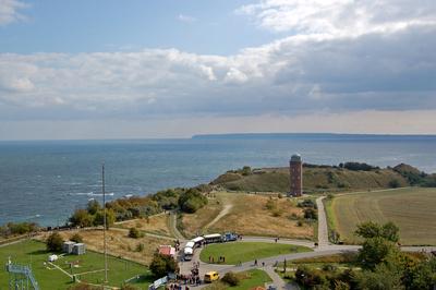 Blick vom Leuchhturm auf das Kap Arkona