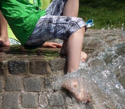 Erfrischendes Bad