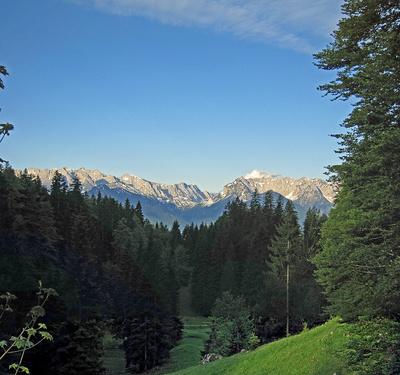 Ausblick auf das Kaisergebirge