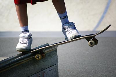 Skater auf Rail
