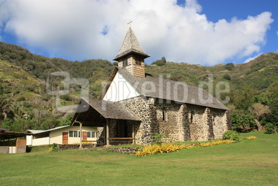 Kirche im Dorf Taaoa