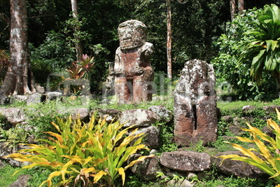 Puamau Hiva Oa Tiki-Figuren