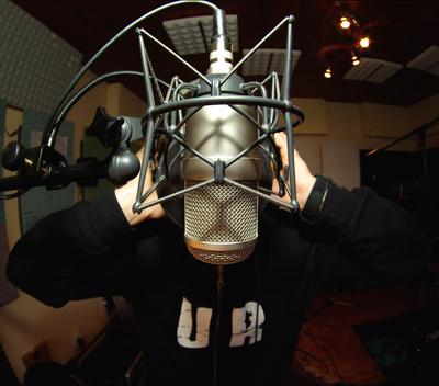 Studio Gesangsaufnahme