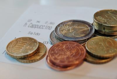Münzen Trinkgeld