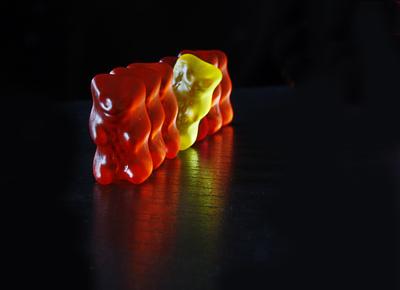 Gummibärchen in Warteposition