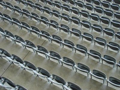 Bestuhlung im Berliner Olympiastadion