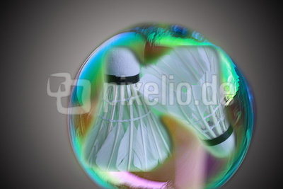 Federball hinter Glas