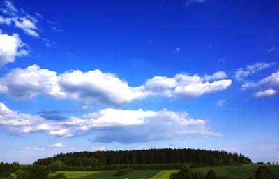 Wald und Feld grün-weiss-blau
