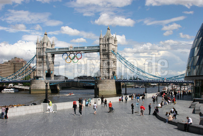 London kurz vor der Olympiade
