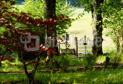 Eingang zum Gebetsgarten in Heiligenbronn (Waldachtal)