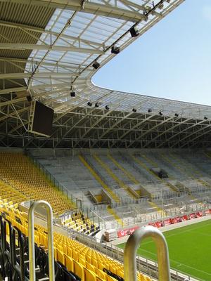 Fanblock im Stadion