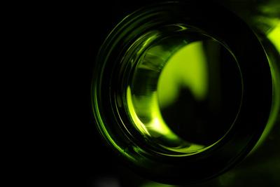 Licht in/aus der Flasche