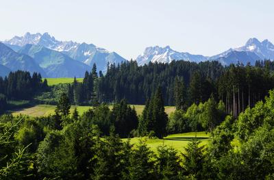 Voralpenlandschaft bei Oberstdorf