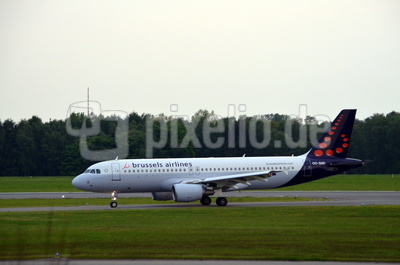Brussels Airline on Runway