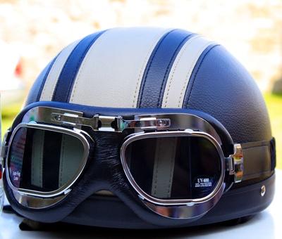 Helm mit Brille