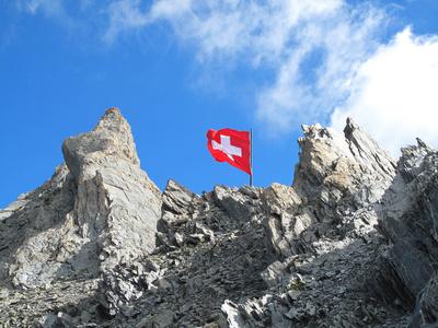 Felszacken auf dem Segnespass