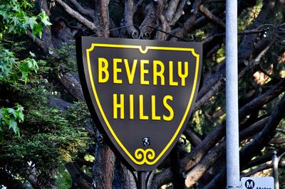 Ortsschild Beverly Hills, Los Angeles, Kalifornien