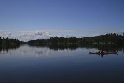 Kajak auf See in Schweden