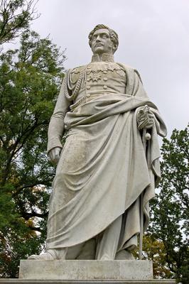 Statue Wilhelm Malte I. im Schlosspark zu Putbus auf Rügen