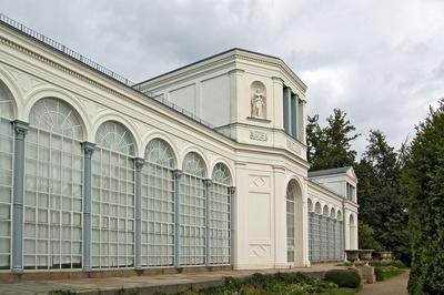 Orangerie im Schlosspark zu Putbus auf Rügen
