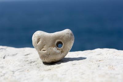 Herzförmiges Meeressteinchen