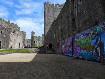 Caernarfon Castle - Innenhof