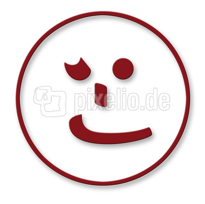 Smiley - Blinzelauge
