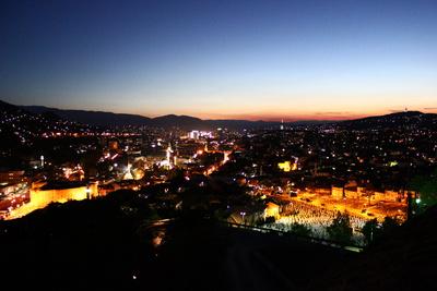 Sarajevo bei Nacht