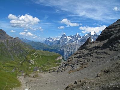 Wetterhorn, Eiger, Mönch, Jungfrau