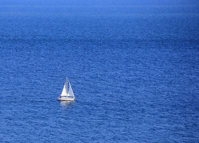Allein auf dem Meer