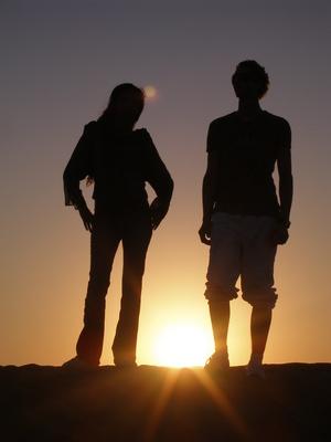 silhouettenpaar
