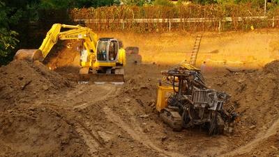 Baugrube - Baustelle