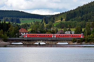 Triebwagen am Schluchsee