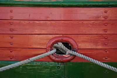 Detail am Schiff