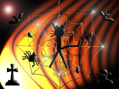 Katze Kittycat Halloween Spinnen