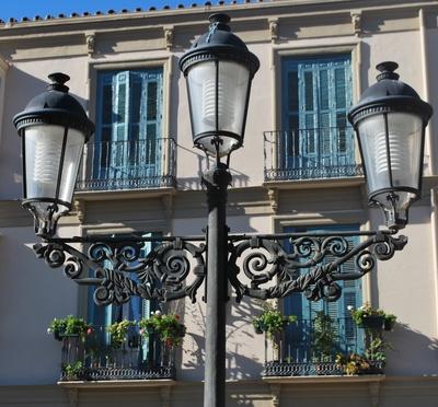 spanische Beleuchtung in Malaga