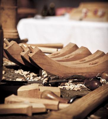 Altes Handwerk - Holzrad-Teile