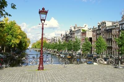 Amsterdam, Brücke an der Singel-Gracht